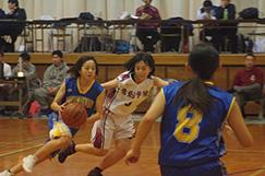 女子バスケットボール部の写真です。