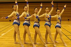 新体操部の写真です。