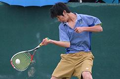 男子ソフトテニス部の写真です。
