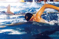 水泳部の写真です。