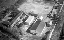 昭和41年頃の霞ヶ浦高等学校の全景写真です。