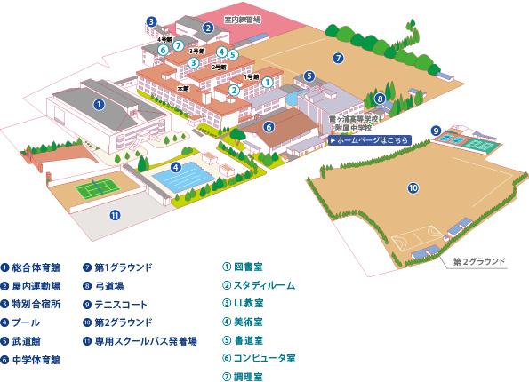 校内地図です。