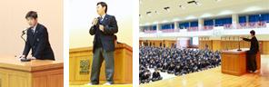 生徒会立会演説会が行われました。(11/27)